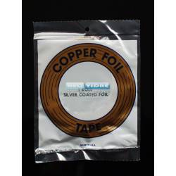 COPPER FOIL 3/8 (9.5 mm) PLATA 33 metros