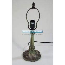 PIE LAMPARA ZINC 609 ROSAS 42/26cm
