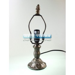 PIE LAMPARA ZINC 922 LILLY 25/11cm