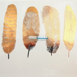 Calcas Decal large Feathers Nr.1 Oro