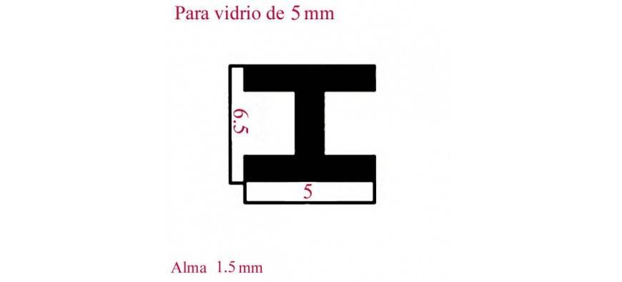 PERFILES 1 METRO VIDRIO DE 5 m